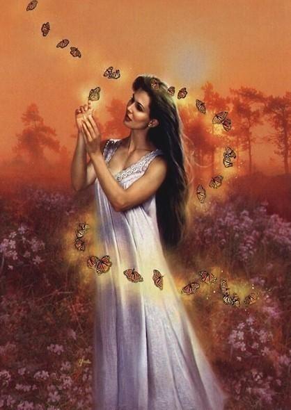 Обложка произведения 'Королева бабочек'