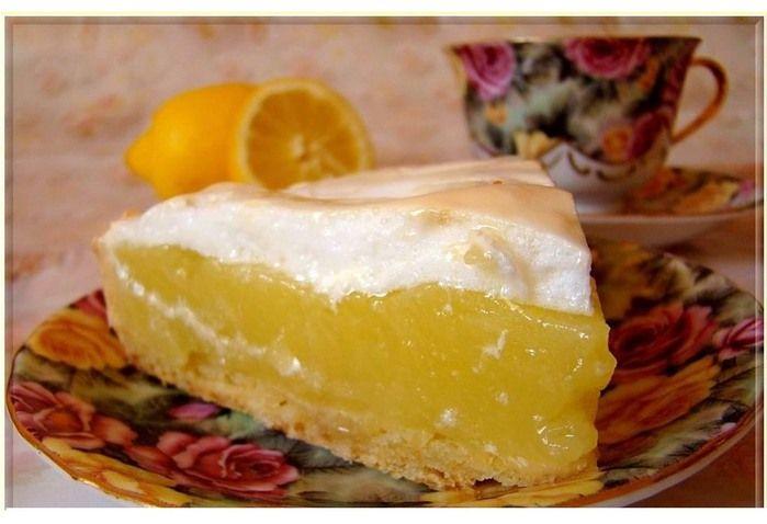 Пирога с лимоном с фото пошагово