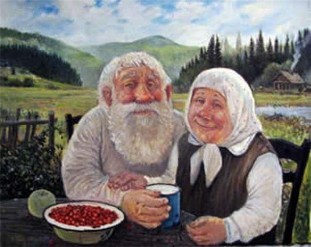 Обложка произведения 'Сказка о том, как бабка ушла от деда'