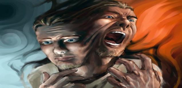 """Обложка произведения 'Человек и Зло. Из цикла """"Рубаи"""".'"""