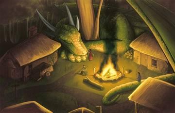 Обложка произведения 'О драконе и бароне'