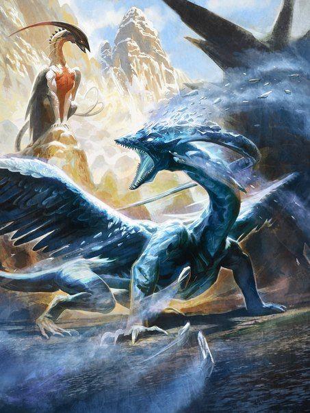 Обложка произведения 'Легенда о ледяном и огненном драконах.'