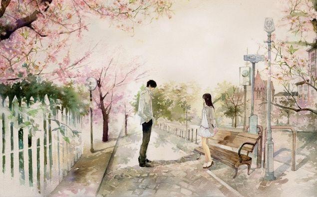 Обложка произведения 'Весенняя любовь'