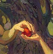 Обложка произведения 'Просто яблочко (пиеса)'