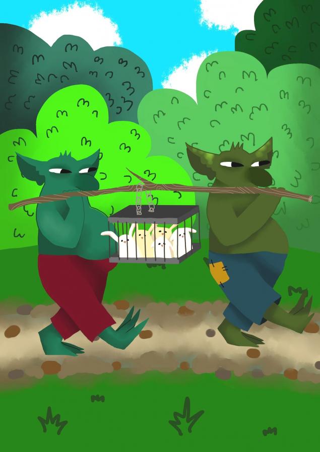Обложка произведения 'Сказки дядюшки боровика. Спасение зайчат.'