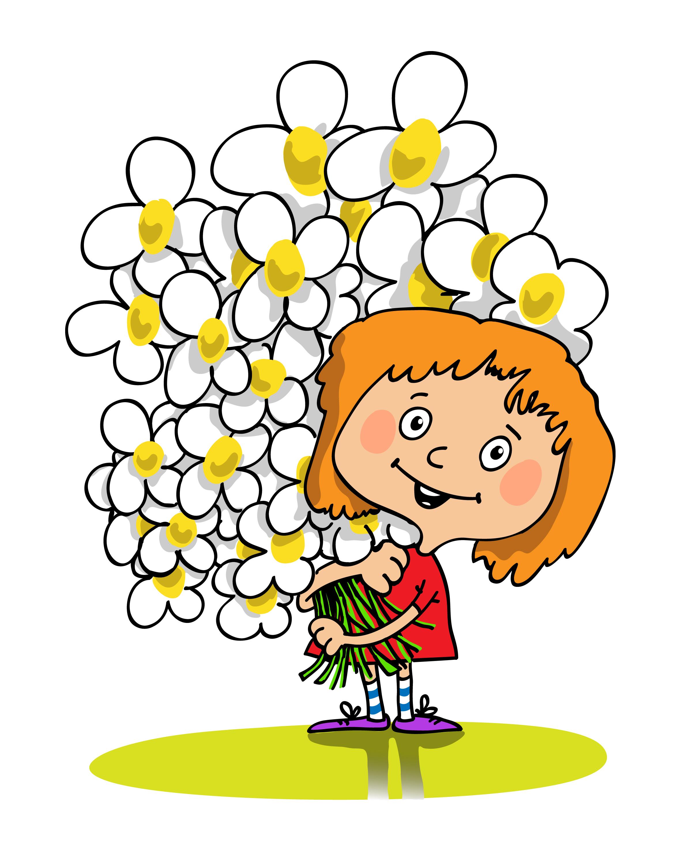 веселые картинки с цветами конус