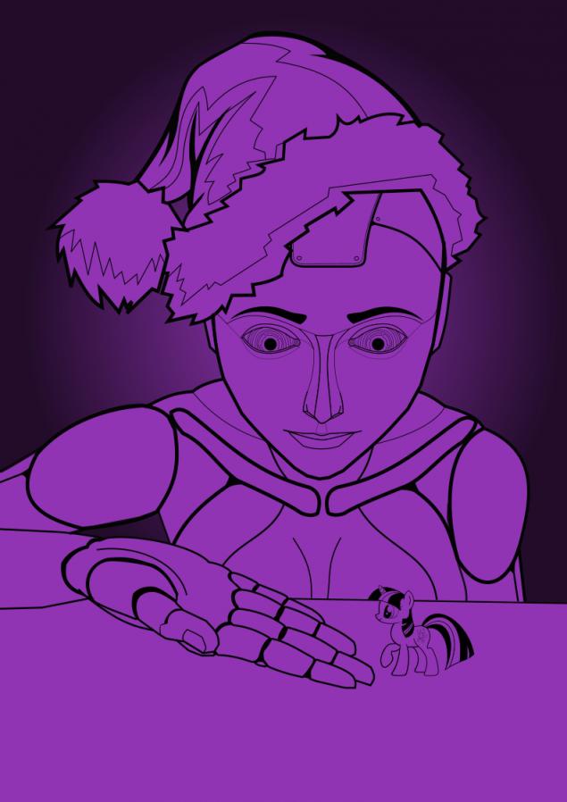 Обложка произведения 'Пони, роботы и Новый год'