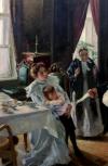 Обложка Пятачок по картине В. Маковского Две матери